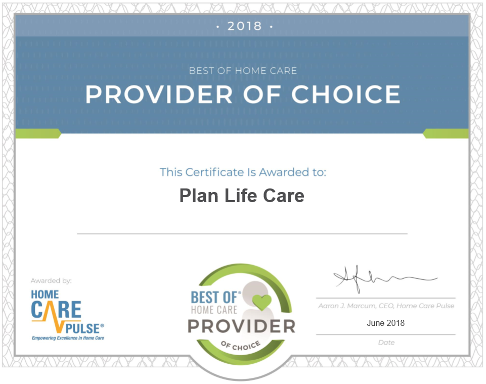 Provider Of Choice 2018 Plan Life Care